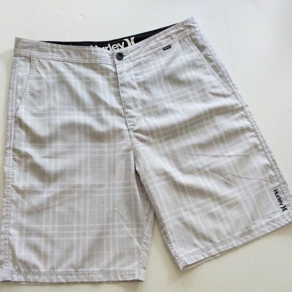Hurley Grey Plaid Men's Shorts Size 34